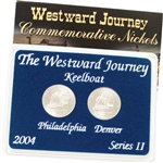 2004 Westward Keelboat Nickel - Mint Mark Set