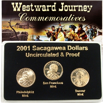 2001 Sacagawea Dollar - P/D/S Mint Set