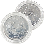 2004 Wisconsin Platinum Quarter - Denver Mint