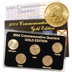 2004 Quarter Mania Uncirculated Set - Gold - P Mint