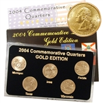 2004 Quarter Mania Uncirculated Set - Gold - D Mint