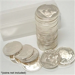 Coin Tube - Quarter (Holds 40 coins) -  24.3 mm - Quantity 10