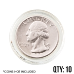 Coin Capsule - Quarter 24.3 mm - Qty 10