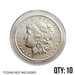 Coin Capsule - Morgan/Peace/Ike Dollar - 38.1 mm - Qty 10