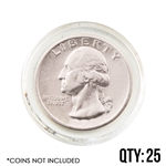 Coin Capsule - Quarter - 24.3 mm - Qty 25