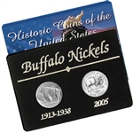 Old and New Buffalo Nickel Set