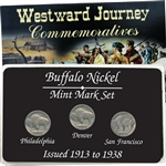 Vintage Buffalo Nickel Mint Mark Collection - P/D/S