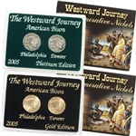 2005 Westward Buffalo Nickel Gold & Platinum 2pc Set