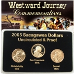 2005 Sacagawea Dollar - P/D/S Mint Set