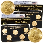 2001 Quarter Mania ( P & D ) Collection - Gold Edition
