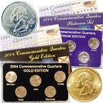 2004 Quarter Mania Precious Metal Set - Gold P / Plat D