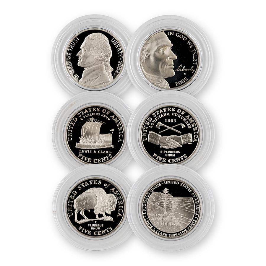 2004-2005 Westward Nickels 4 pc Proof Set