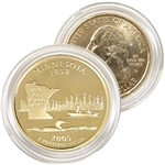 2005 Minnesota 24 Karat Gold Quarter - Denver