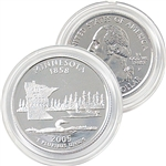 2005 Minnesota Platinum Quarter - Philadelphia Mint
