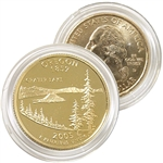 2005 Oregon 24 Karat Gold Quarter - Denver
