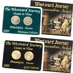 2005 Westward Ocean View Nickel Gold & Platinum 2pc Set