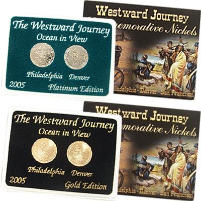 2005 Westward Ocean View Nickel Gold Platinum 2pc Set