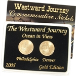 2005 Westward Ocean View Nickels - Gold 2 pc Set