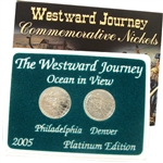 2005 Westward Ocean View Nickels - Platinum 2 pc Set