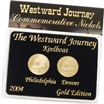 2004 Westward Keelboat Nickels - Gold 2 pc Set