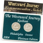 2004 Westward Keelboat Nickels - Platinum 2 pc Set