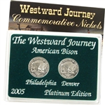 2005 Westward Buffalo Nickels - Platinum 2 pc Set