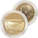 2005 West Virginia 24 Karat Gold Quarter - Philadelphia