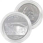 2005 West Virginia Platinum Quarter - Philadelphia Mint