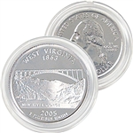 2005 West Virginia Platinum Quarter - Denver Mint
