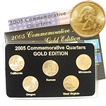 2005 Quarter Mania Uncirculated Set - Gold - P Mint