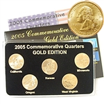 2005 Quarter Mania Uncirculated Set - Gold - D Mint
