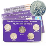 2005 Quarter Mania Uncirculated Set - Platinum D Mint