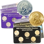 2005 Quarter Mania Precious Metal Set - Gold P/ Plat D