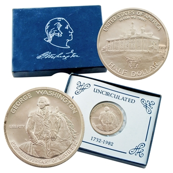 1982 George Washington Uncirculated Half Dollar Commemorative