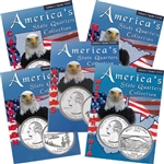 2005 Set of 5 State Quarter Albums