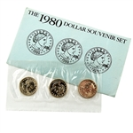1980 Susan B Anthony PDS Souvenir Mint Set - Government Packaging