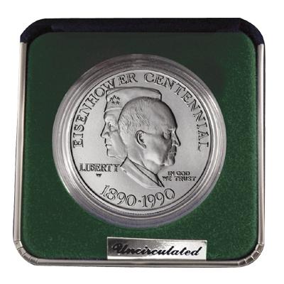 1990 Eisenhower Dollar - West Point - Silver - Uncirculated