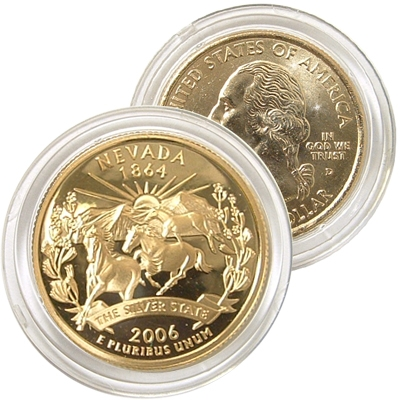 2006 Nevada 24 Karat Gold Quarter Denver