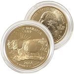 2006 North Dakota 24 Karat Gold Quarter - Denver