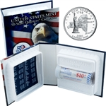 2001 US Mint Licensed Album - New York Quarter Roll - Denver