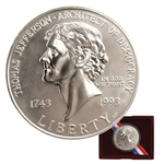 1993 Jefferson Silver Dollar - Uncirculated