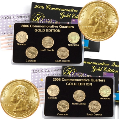 2006 Westward Journey Jefferson Nickel Commemorative Gold Edition   P/&D Set