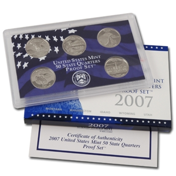 2007 50 State Quarters Proof Set - Original Government Packaging