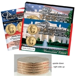 2007 John Adams Presidential Dollar Up Side Down Variety Set