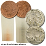 Wild West Set: 10 Indian Cents & 20 Buffalo Nickels