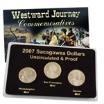 2007 Sacagawea Dollar - P/D/S Mint Set