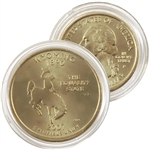 2007 Wyoming 24 Karat Gold Quarter - Philadelphia