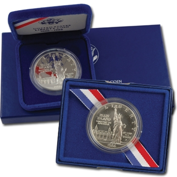 1986 Statue of Liberty Silver Dollar - Proof & Unc Pair