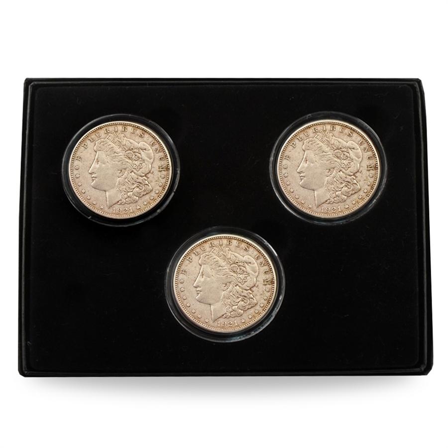 1921 Morgan Silver Dollar Mint Mark Set