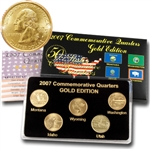 2007 Quarter Mania Uncirculated Set - Gold - P Mint